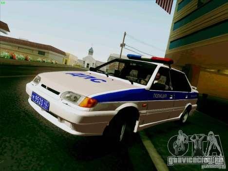 ВАЗ 2115 Полиция для GTA San Andreas вид сзади слева