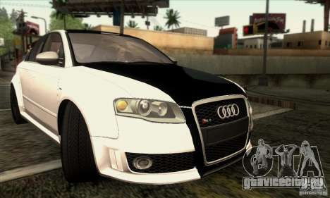 Audi RS4 для GTA San Andreas вид сбоку