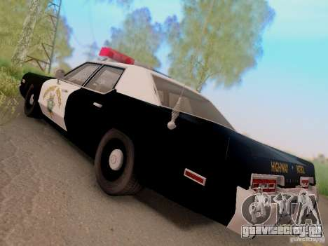 Dodge Monaco 1974 California Highway Patrol для GTA San Andreas вид слева