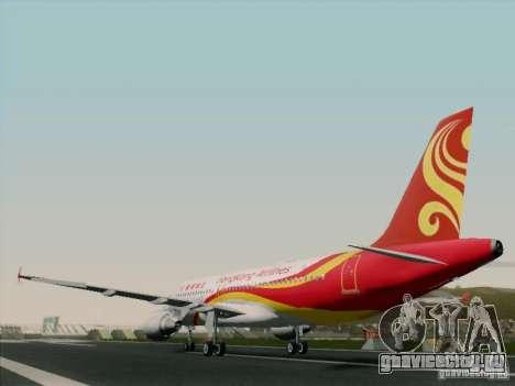 Airbus A320-214 Hong Kong Airlines для GTA San Andreas вид сзади
