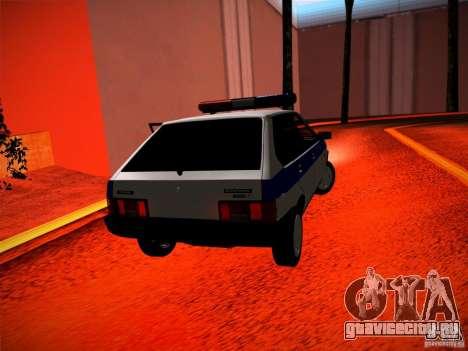 Ваз 2109 Police для GTA San Andreas вид сзади слева