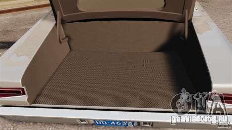 Dodge Coronet 1967 для GTA 4 вид сверху