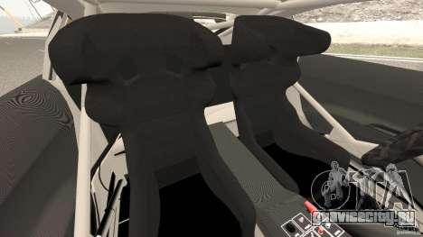 Audi R8 LMS для GTA 4 вид изнутри