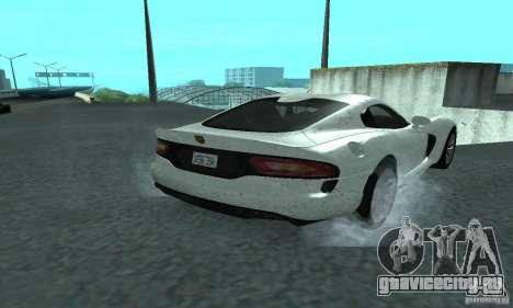 Dodge SRT Viper GTS 2013 для GTA San Andreas вид сзади слева