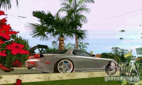 Mazda RX7 tuning для GTA Vice City вид сзади