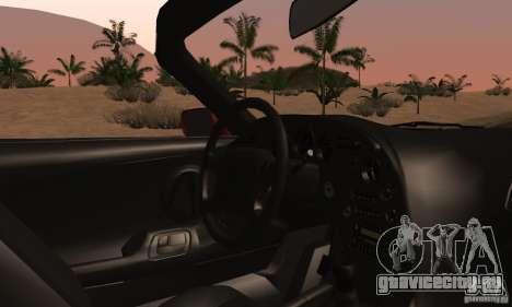 Toyota Supra Targa для GTA San Andreas вид изнутри
