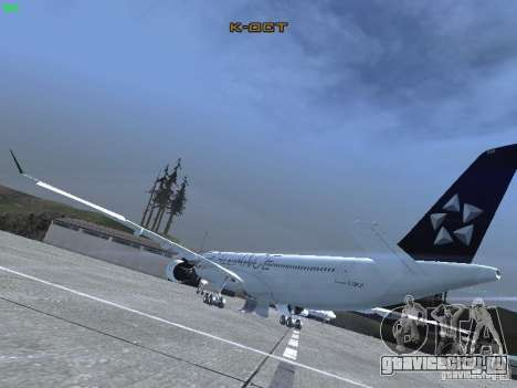 Airbus A330-300 Air Canada для GTA San Andreas вид сзади слева