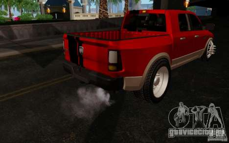 Dodge Ram 3500 Tuning для GTA San Andreas вид сзади