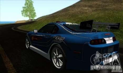 Toyota Supra Tunable для GTA San Andreas салон