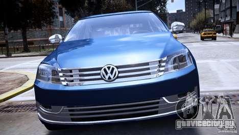 VW Passat B7 TDI Blue Motion для GTA 4 вид справа
