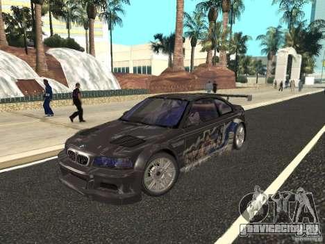 BMW M3 GTR из NFS Most Wanted для GTA San Andreas вид сбоку