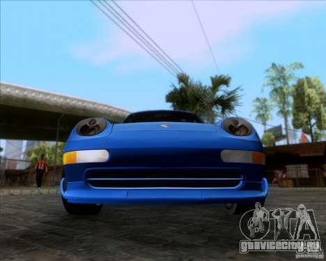 Porsche 911 GT2 RWB Dubai SIG EDTN 1995 для GTA San Andreas вид сзади слева