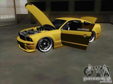 Ford Mustang GT Lowlife для GTA San Andreas вид сзади