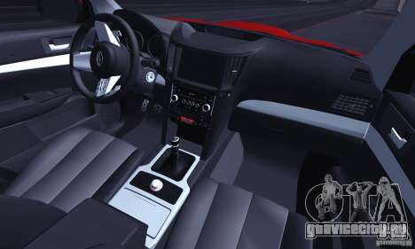 Subaru Legacy B4 2010 для GTA San Andreas вид снизу