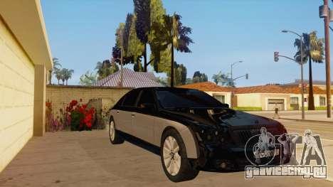 Maybach 62 для GTA San Andreas вид сзади