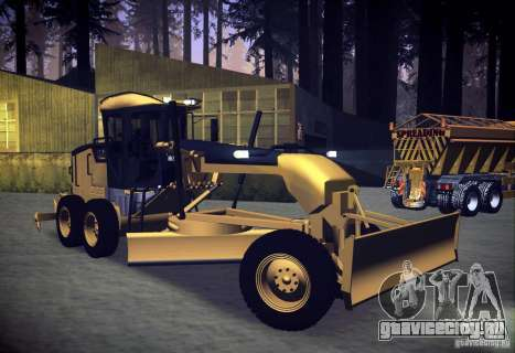 Caterpillar 140AWD Motorgrader для GTA San Andreas вид справа