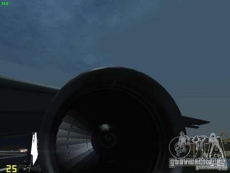 Boeing 767-300 AeroSvit Ukrainian Airlines для GTA San Andreas вид изнутри