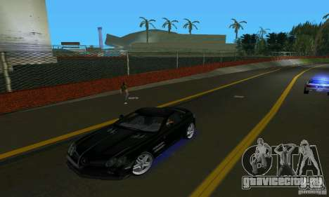 Mercedes-Benz SLR McLaren 722 Black Revel для GTA Vice City
