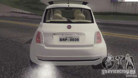 Fiat 500 Lounge 2010 для GTA San Andreas вид справа