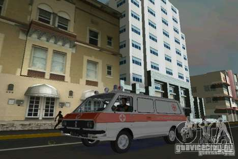 РАФ-22031 Скорая для GTA Vice City вид слева