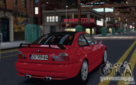 BMW M3 E46 Street Version для GTA 4 вид слева