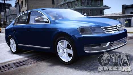 VW Passat B7 TDI Blue Motion для GTA 4 вид слева