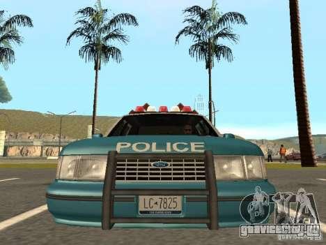 HD Police from GTA 3 для GTA San Andreas вид сзади