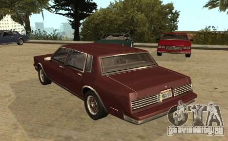 Eon Tahoma для GTA San Andreas вид слева