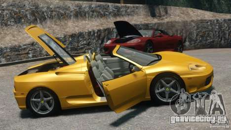 Ferrari 360 Spider 2000 для GTA 4 вид справа