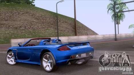 Porsche Carrera GT Custom для GTA San Andreas вид слева