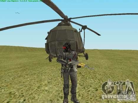 Ми-8 МТВ для GTA San Andreas вид изнутри