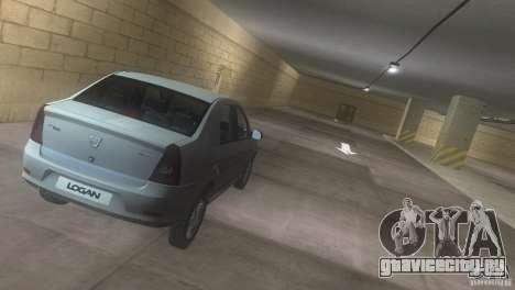 Dacia Logan для GTA Vice City вид изнутри
