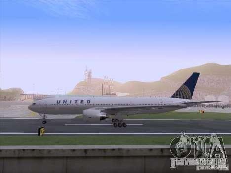 Boeing 777-200 United Airlines для GTA San Andreas вид справа