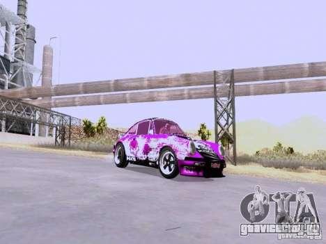 Porsche 911 Pink Power для GTA San Andreas вид сзади слева