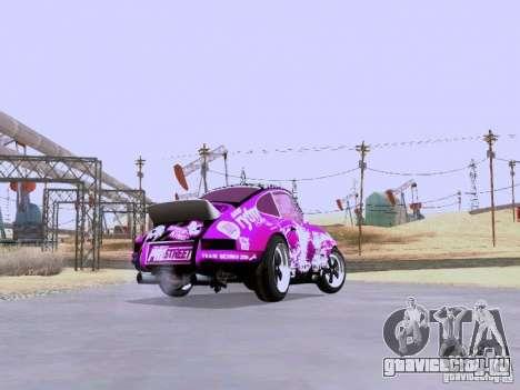 Porsche 911 Pink Power для GTA San Andreas вид сзади