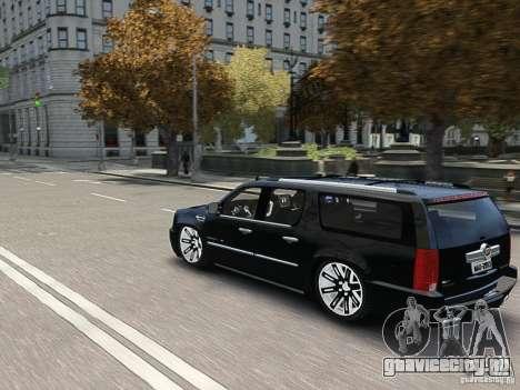 Cadillac Escalade ESV 2012 DUB для GTA 4 вид сбоку