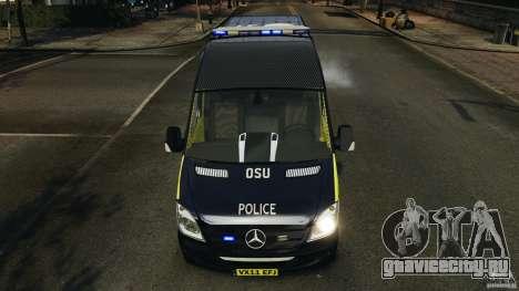 Mercedes-Benz Sprinter Police [ELS] для GTA 4 салон
