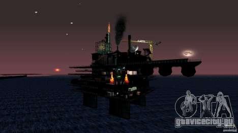 Нефтяная платформа в Лос-Сантос для GTA San Andreas пятый скриншот