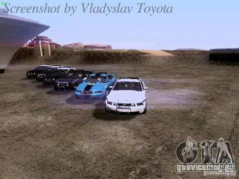 Ford Mustang GT 2011 Police Enforcement для GTA San Andreas двигатель