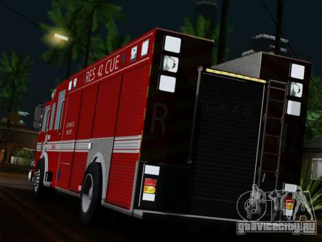 Pierce Contender LAFD Rescue 42 для GTA San Andreas вид сзади слева