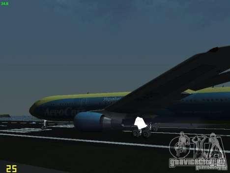 Boeing 767-300 AeroSvit Ukrainian Airlines для GTA San Andreas вид сбоку
