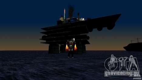 Нефтяная платформа в Лос-Сантос для GTA San Andreas четвёртый скриншот