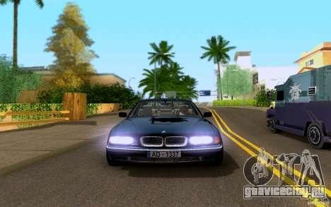 BMW 730i E38 FBI для GTA San Andreas вид сзади