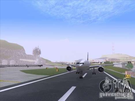 Boeing 777-200 United Airlines для GTA San Andreas вид сзади слева