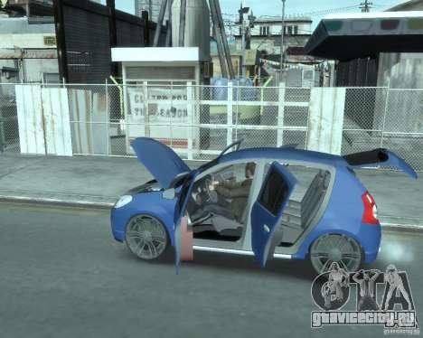 Renault Sandero v1.0 для GTA 4 вид изнутри
