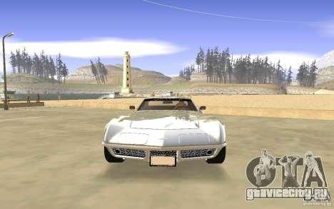 Chevrolet Corvette Stingray Monster Energy для GTA San Andreas вид сбоку