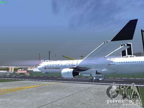 Airbus A330-300 Air Canada для GTA San Andreas вид сзади