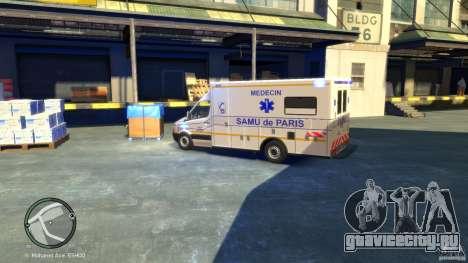 Mercedes-Benz Sprinter Ambulance для GTA 4 вид сзади слева