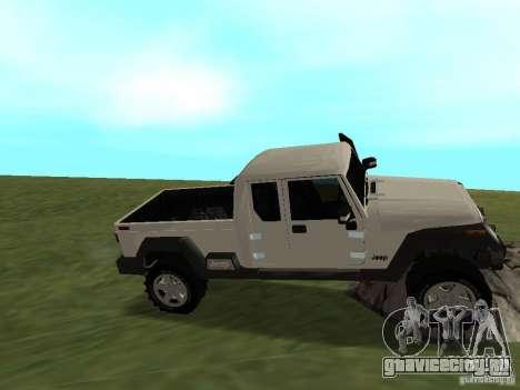Jeep Gladiator для GTA San Andreas вид изнутри