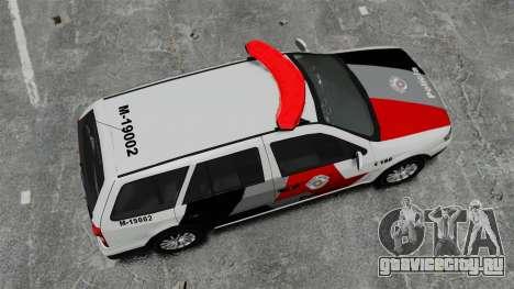 Volkswagen Parati G4 PMESP ELS для GTA 4 вид справа